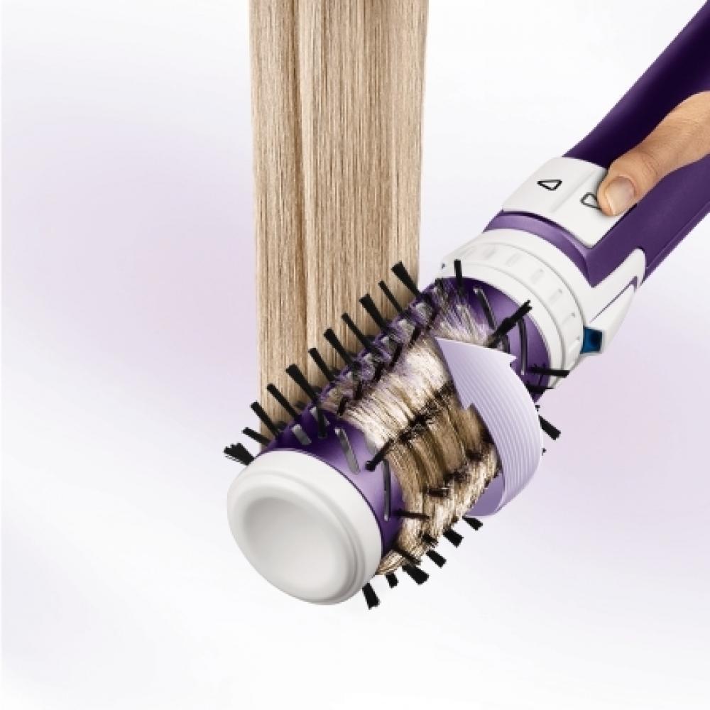 Фен-щетка Rowenta Brush Activ Volume&Shine CF9530 вращающаяся, 2 насадки