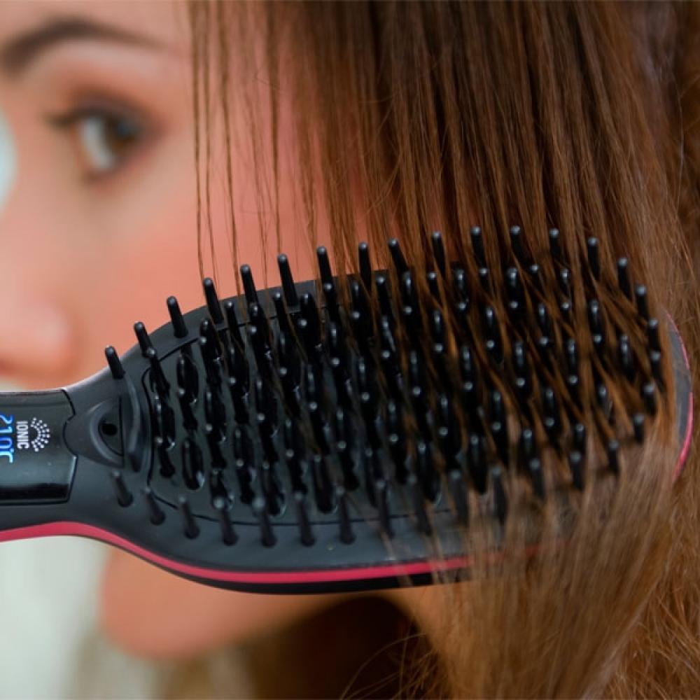 Расческа-выпрямитель для волос Rowenta Instant Straight CF5712 с ионизацией и дисплеем
