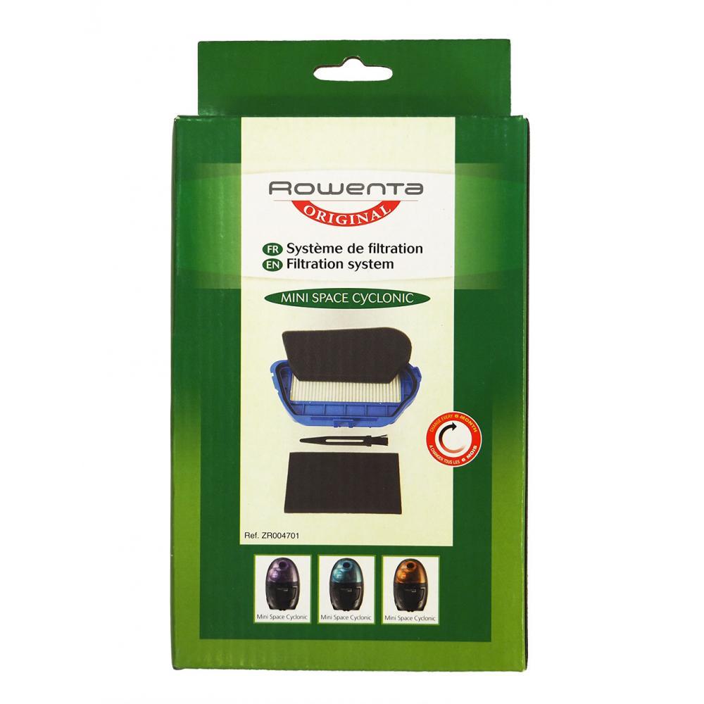 Фильтр HEPA 10 Rowenta ZR004701 для Mini Space Cyclonic, набор из 3 фильтров и щетка для чистки